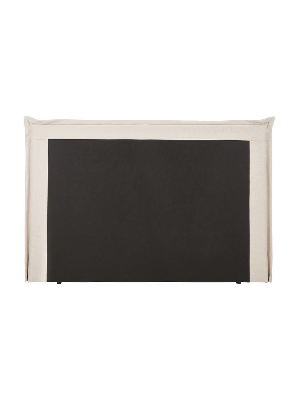 Premium boxspring bed Violet in beige, Matras: 5-zones pocketvering, Poten: massief gelakt berkenhout, Geweven stof beige, 160 x 200 cm