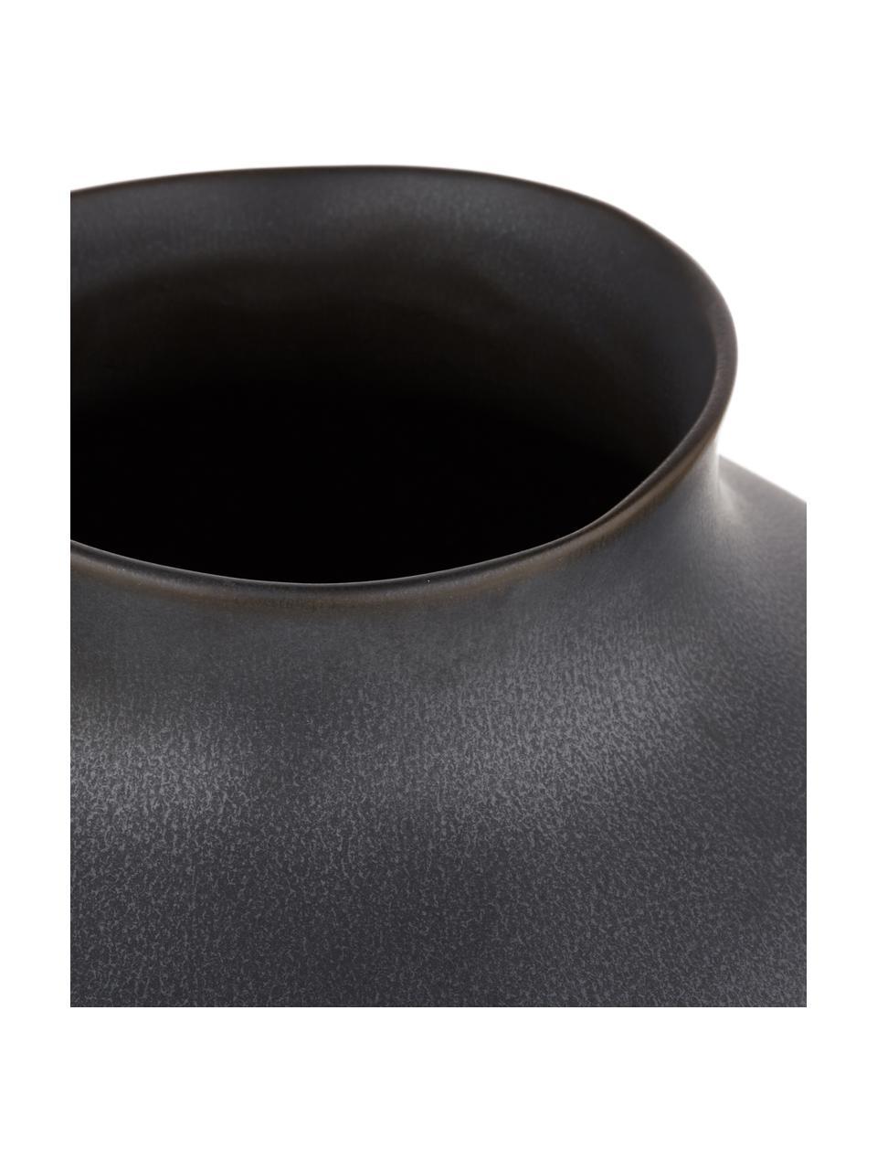 Duży ręcznie wykonany wazon z ceramiki Latona, Ceramika, Czarny, matowy, Ø 27 x W 41 cm