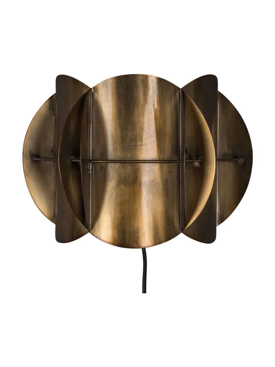 Kinkiet z wtyczką Corridor, Mosiądz z antycznym wykończeniem, S 27 x W 19 cm