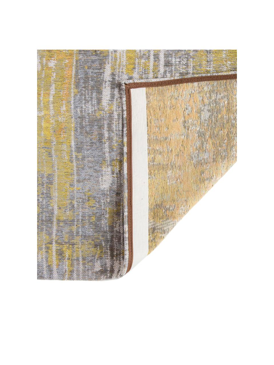 Tappeto di design grigio/giallo Streaks, Tessuto: Jacquard, Retro: Cotone misto, rivestito d, Giallo, grigio, bianco, Larg. 140 x Lung. 200 cm (taglia S)