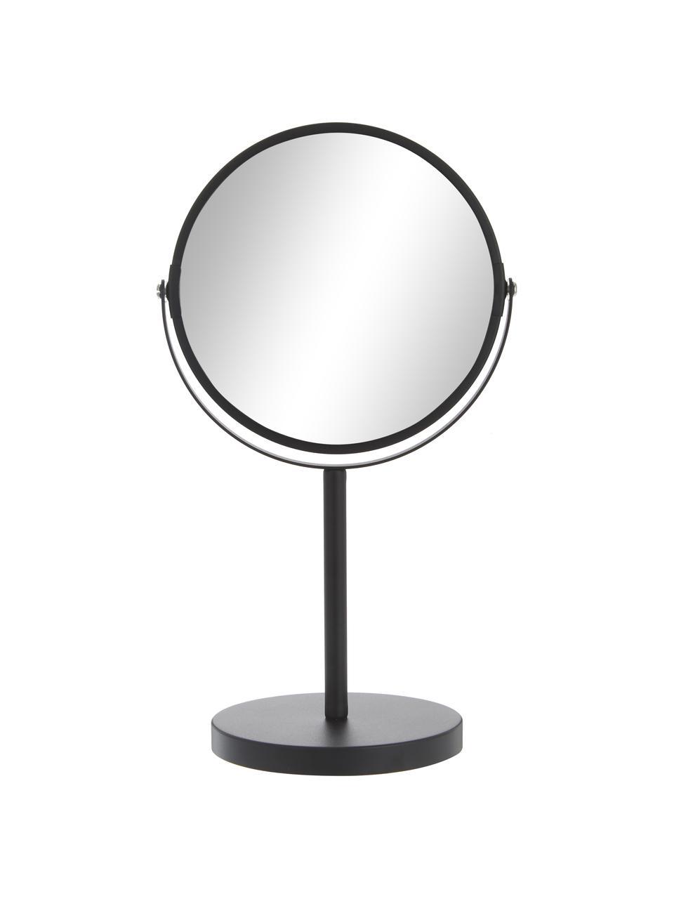 Specchio cosmetico con ingrandimento Classic, Cornice: metallo, Superficie dello specchio: lastra di vetro, Cornice: nero Superficie dello specchio: lastra di vetro, Ø 20 x Alt. 35 cm