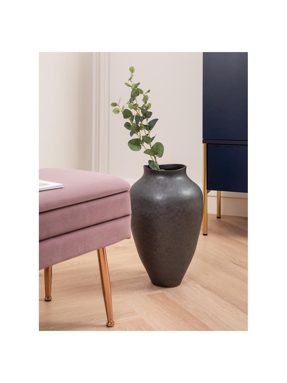Kunstblume Eukalyptuszweig, Kunststoff, Grün, L 79 cm