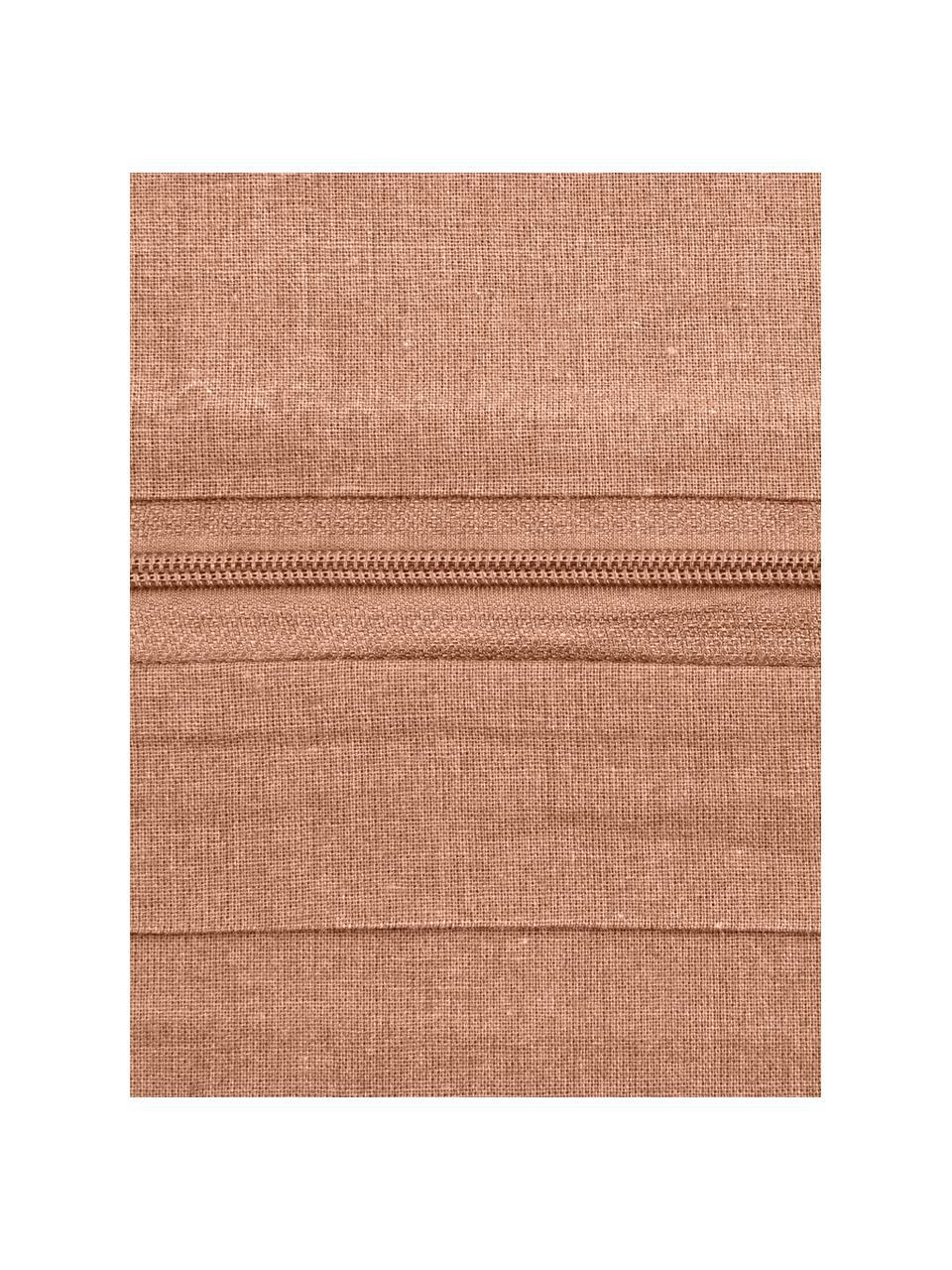 Pościel z bawełny efektem sprania Arlene, Morelowy, 135 x 200 cm