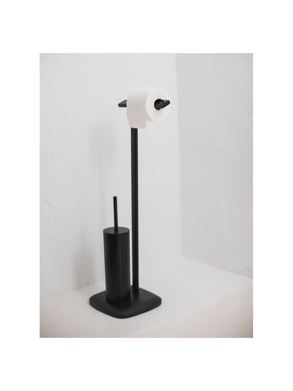 Stojak na papier toaletowy i szczotkę toaletową Deptford, Metal powlekany, Czarny, S 23 x W 73 cm