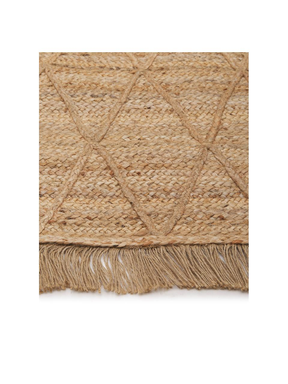 Handgefertigter Jute-Teppich Jason, 100% Jute, Beige, B 80 x L 150 cm (Größe XS)
