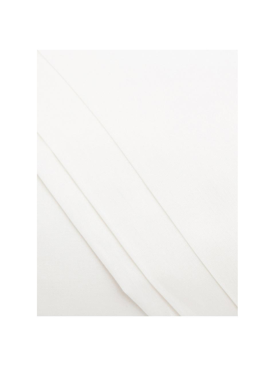 Set lenzuola in cotone avorio Lenare, Fronte e retro: avorio chiaro, 150 x 290 cm + 1 federa 50 x 80 cm