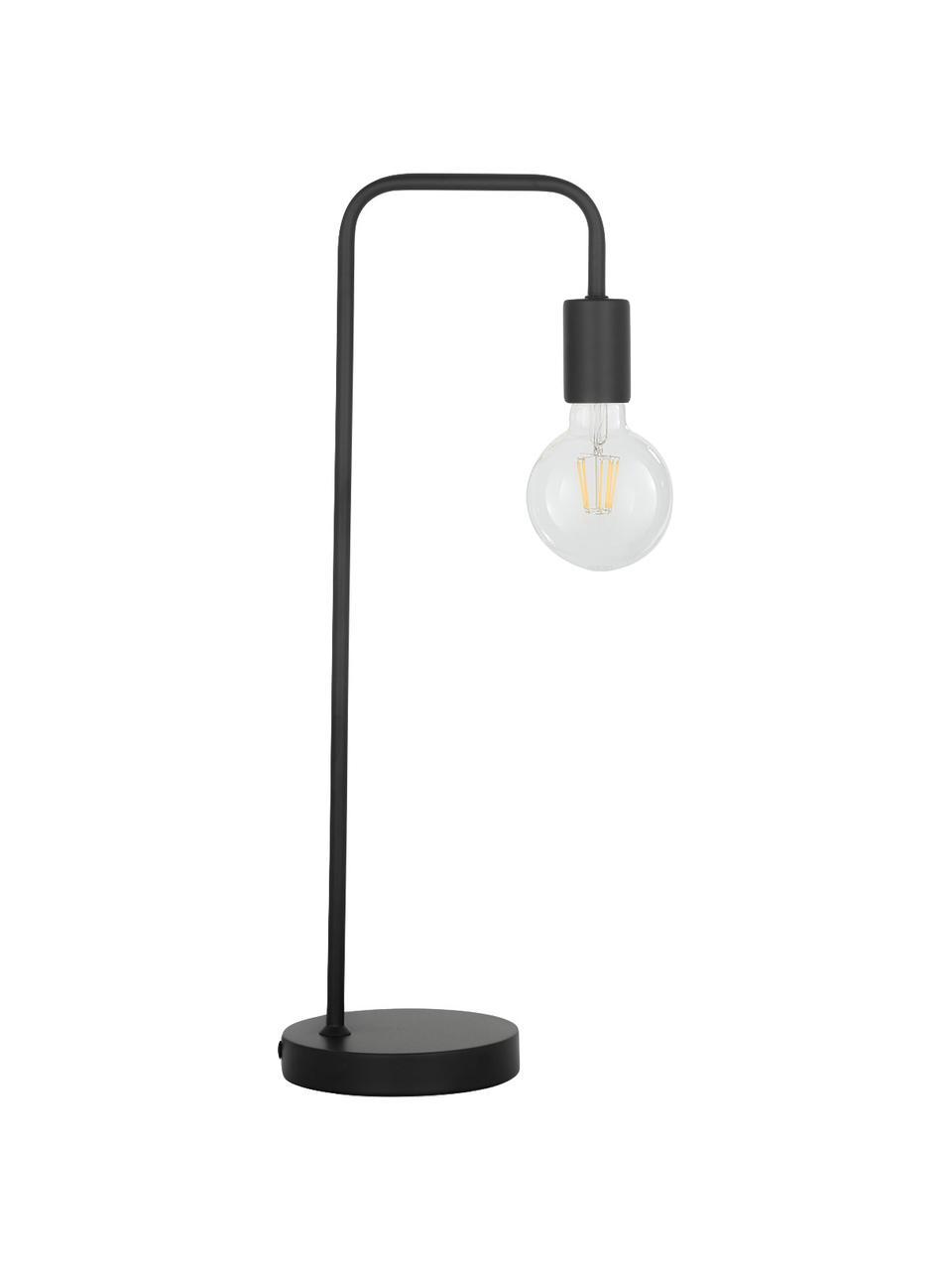 Grande lampe de bureau en métal Flow, Noir