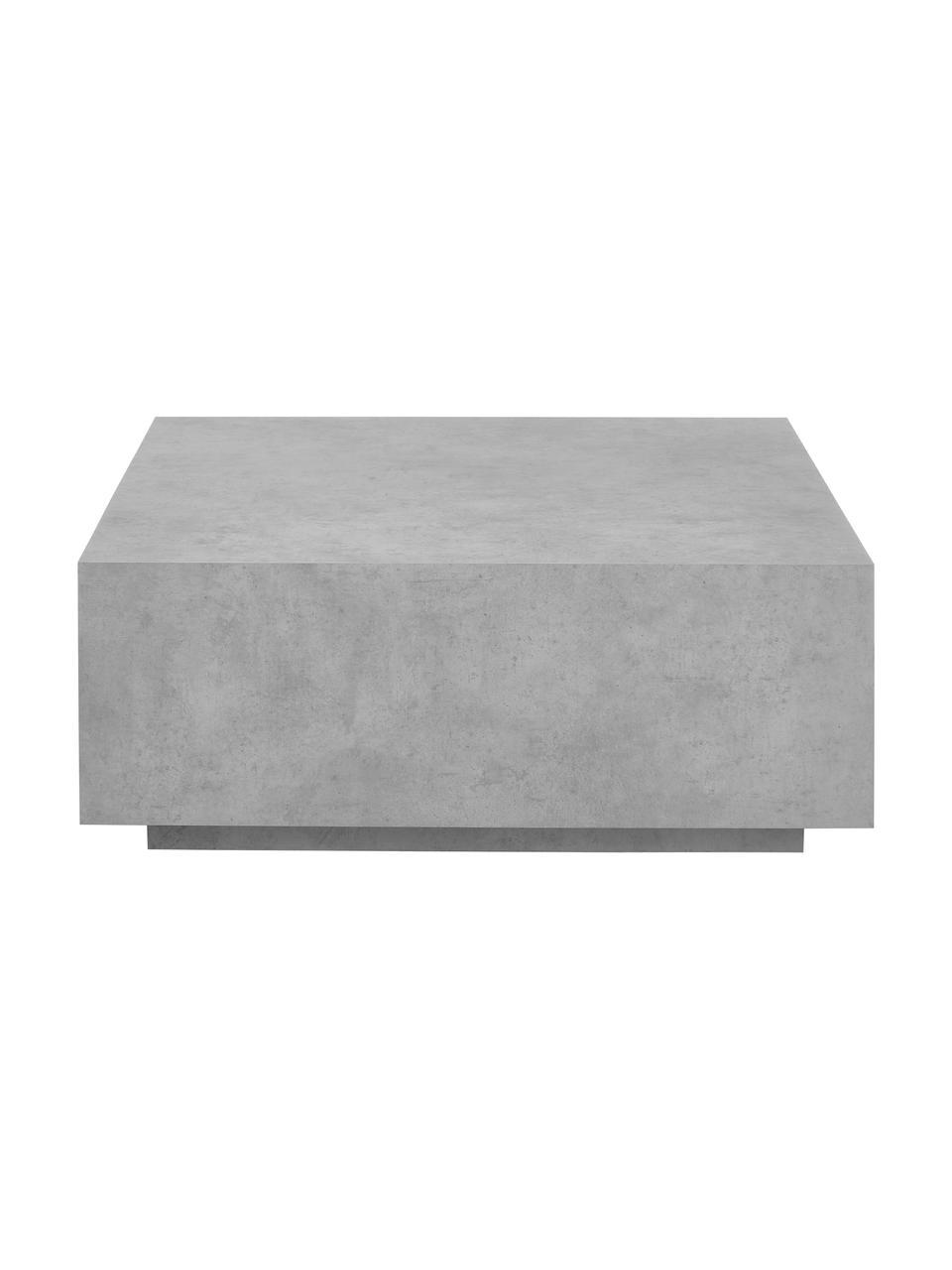 Stolik kawowy z imitacją betonu Lesley, Płyta pilśniowa średniej gęstości (MDF) pokryta folią melaminową, Szary, imitacja betonu, S 90 x W 35 cm