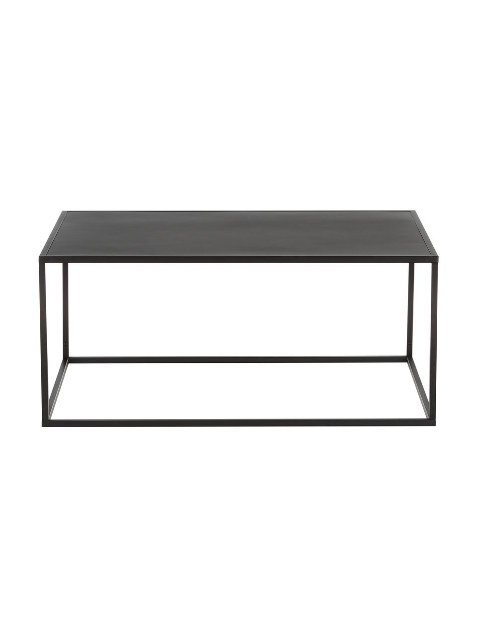 Table basse métal noir Newton, Noir