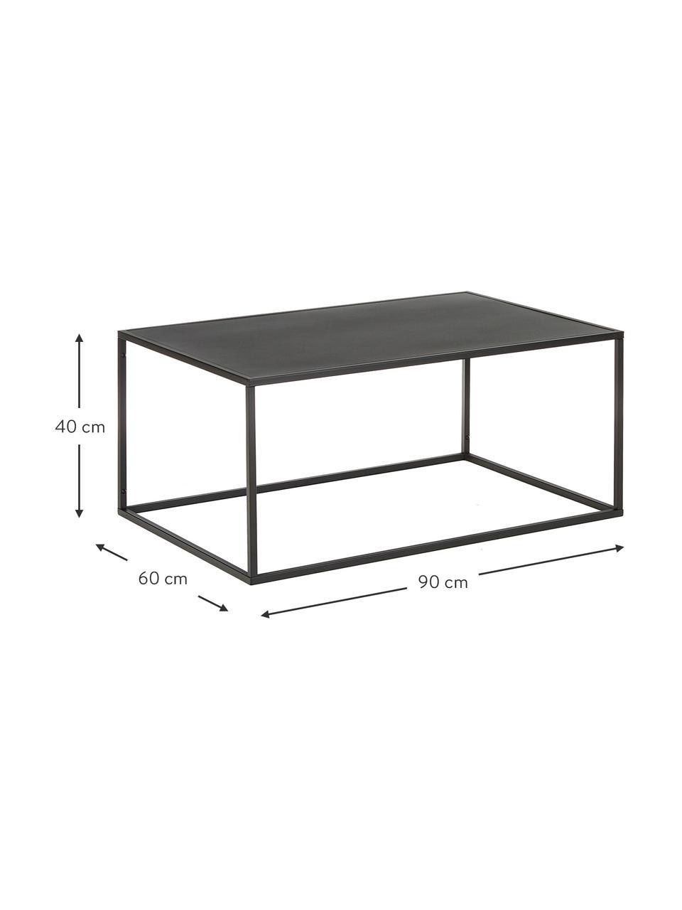 Table basse métal noir Neptun, Noir