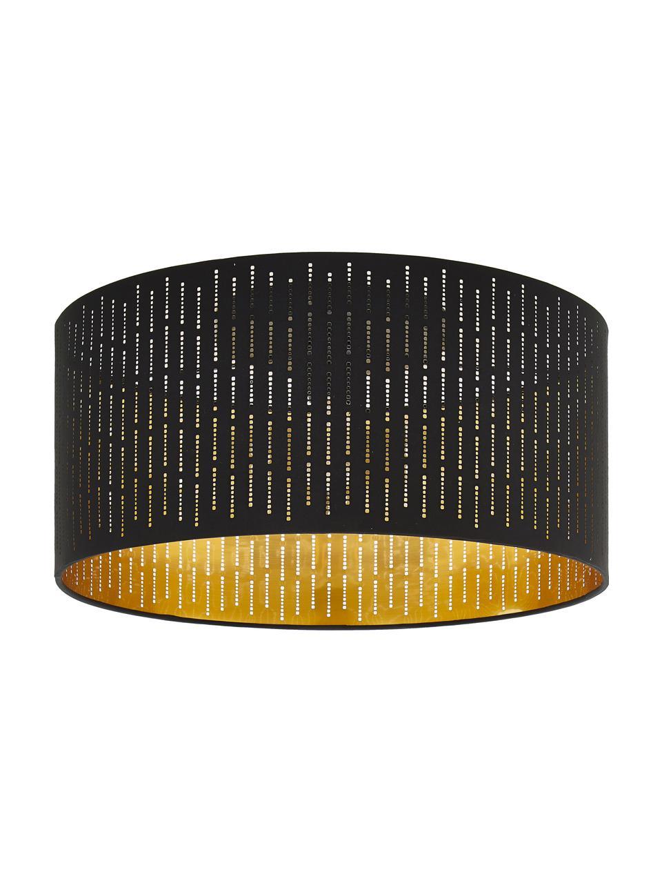Plafonnier rond noir Varillas, Noir, couleur dorée