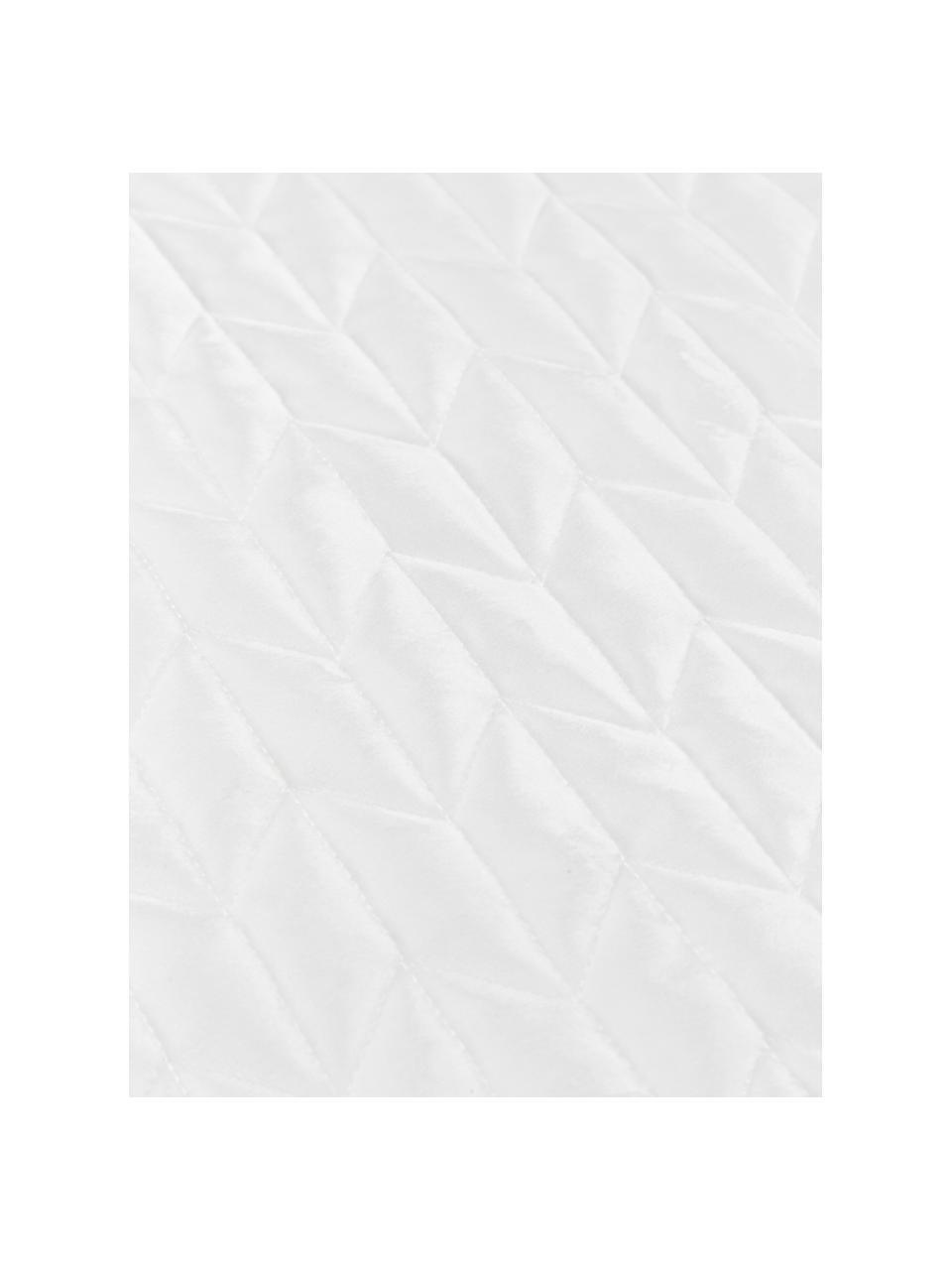 Couvre-lit avec matelassage décoratif Tily, Blanc