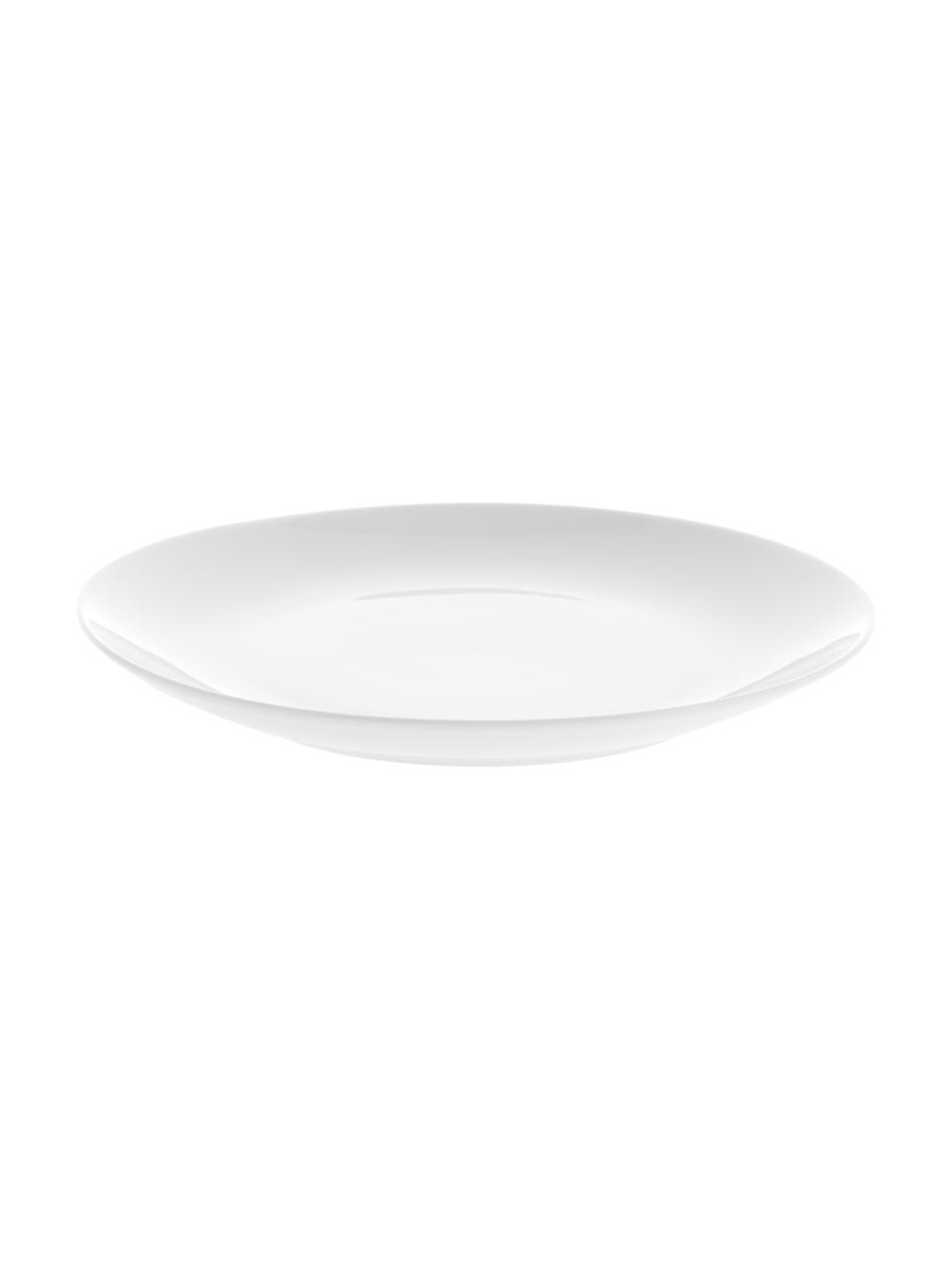 Porzellan-Frühstücksteller Delight Modern in Weiß, 2 Stück, Porzellan, Weiß, Ø 20 cm