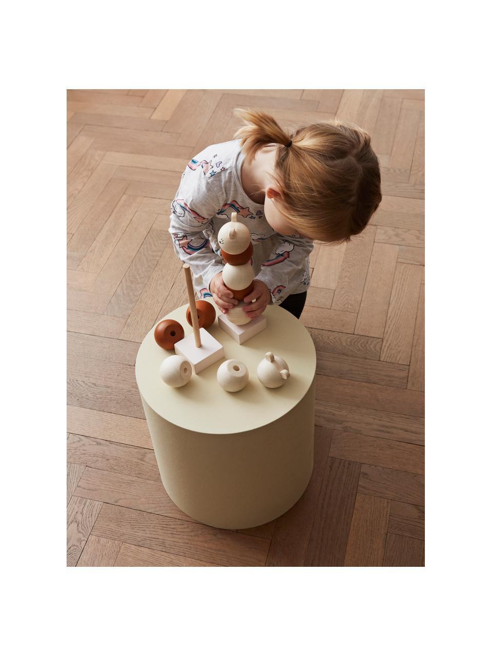 Großes Stapelspielzeug Lala aus Buchenholz, Buchenholz, beschichtet, Braun, Creme, Ø 6 x H 23 cm