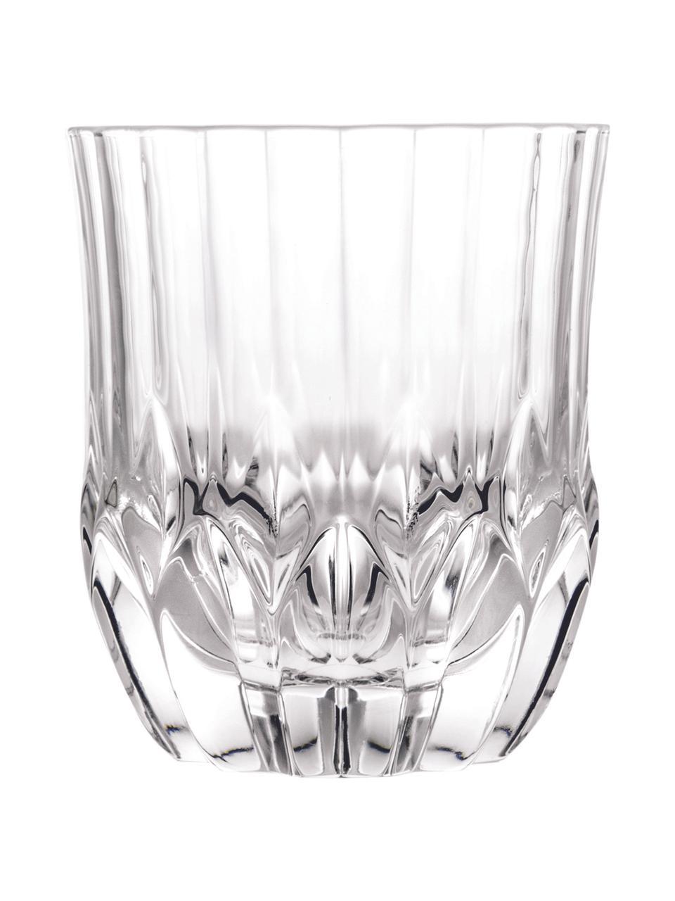 Kristallgläser Adagio mit Relief, 6 Stück, Kristallglas, Transparent, Ø 9 x H 10 cm. 350 ml