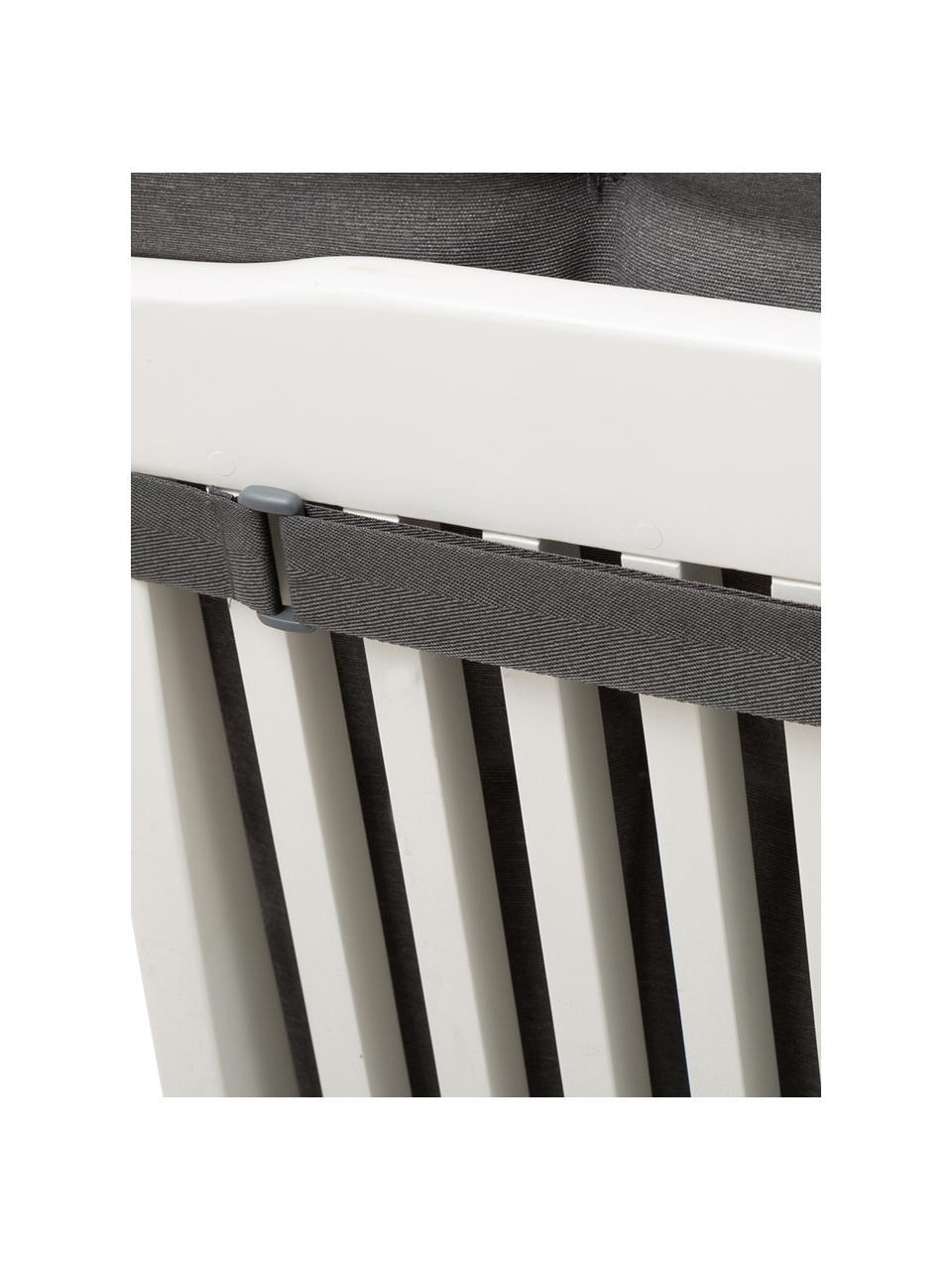 Einfarbige Hochlehner-Stuhlauflage Panama in Anthrazit, Bezug: 50% Baumwolle, 50%Polyes, Grau, 50 x 123 cm