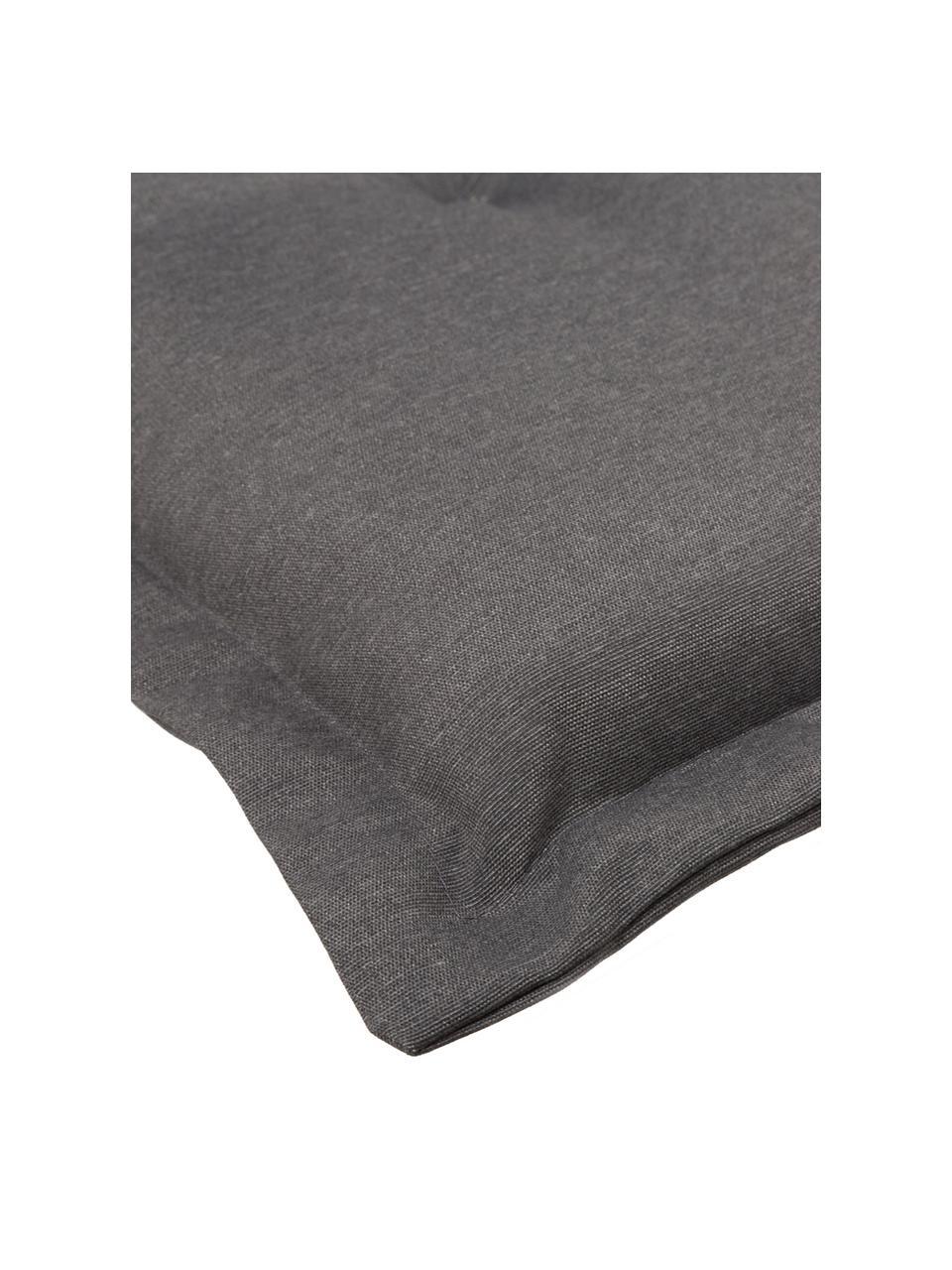 Poduszka na krzesło z oparciem Panama, Tapicerka: 50% bawełna, 50%polieste, Szary, S 50 x D 123 cm
