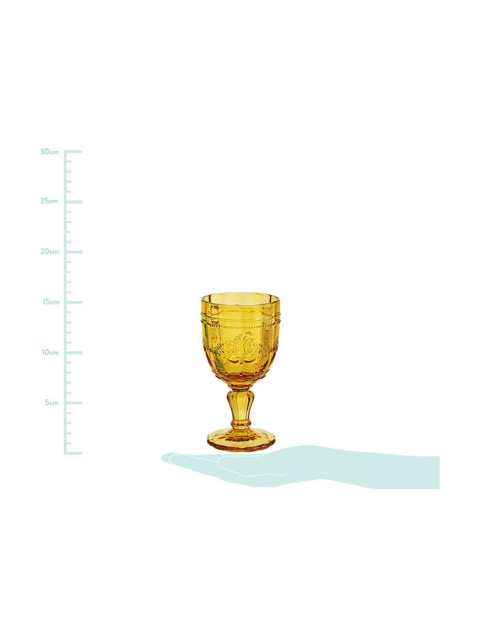 Sada sklenic na víno se strukturálním vzorem Syrah, 6 dílů, Růžová, modrá, tyrkysová, zelená, žlutá, šedá