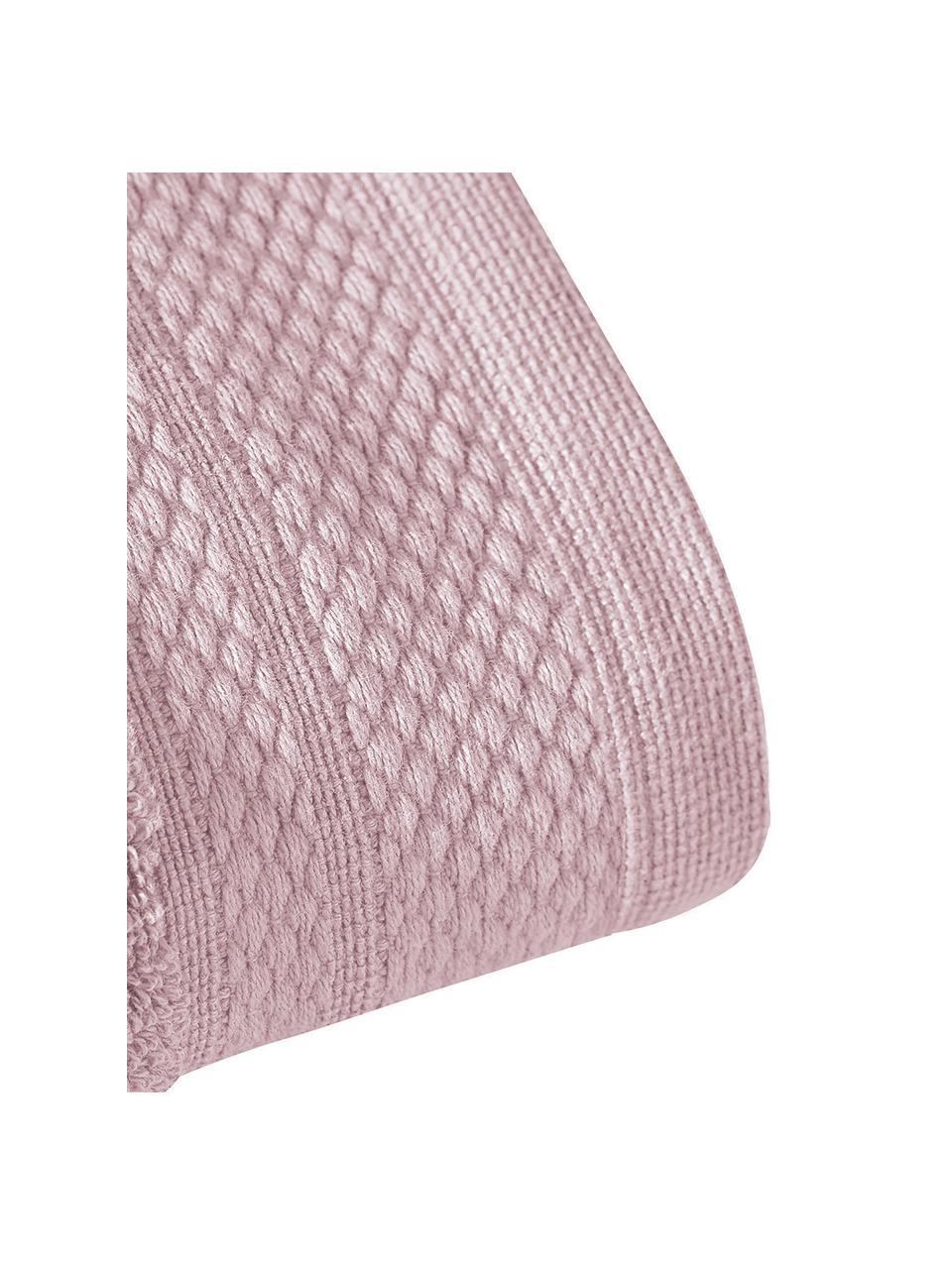 Handdoekenset Premium, 3-delig, Oudroze, Set met verschillende formaten