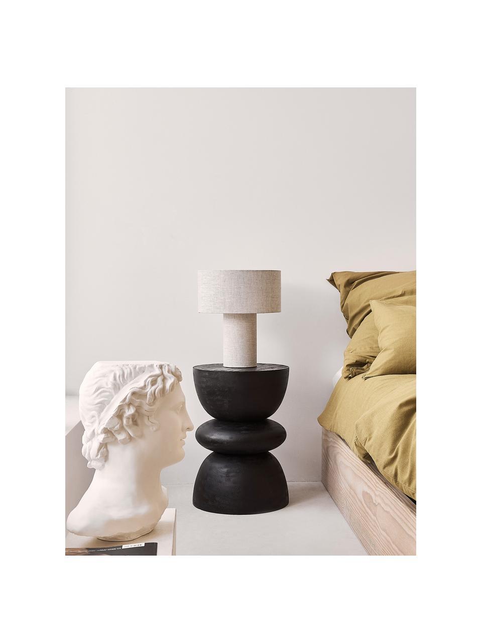 Tavolino rotondo in legno di mango nero Benno, Legno massiccio di mango verniciato, Nero, Ø 35 x Alt. 50 cm