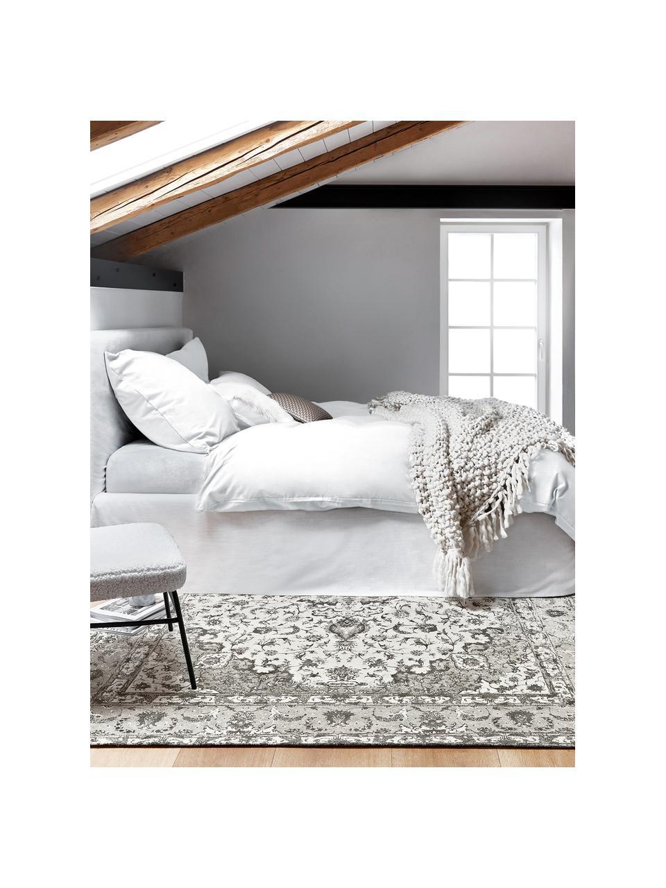 Pościel z flaneli Biba, Biały, 135 x 200 cm + 1 poduszka 80 x 80 cm