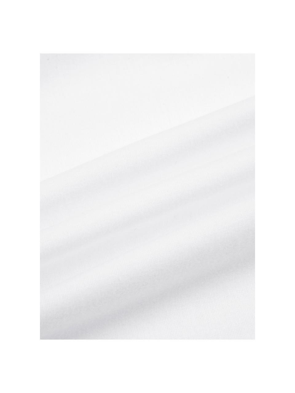Flanell-Bettwäsche Biba in Weiß, Webart: Flanell Flanell ist ein k, Weiß, 155 x 220 cm + 1 Kissen 80 x 80 cm