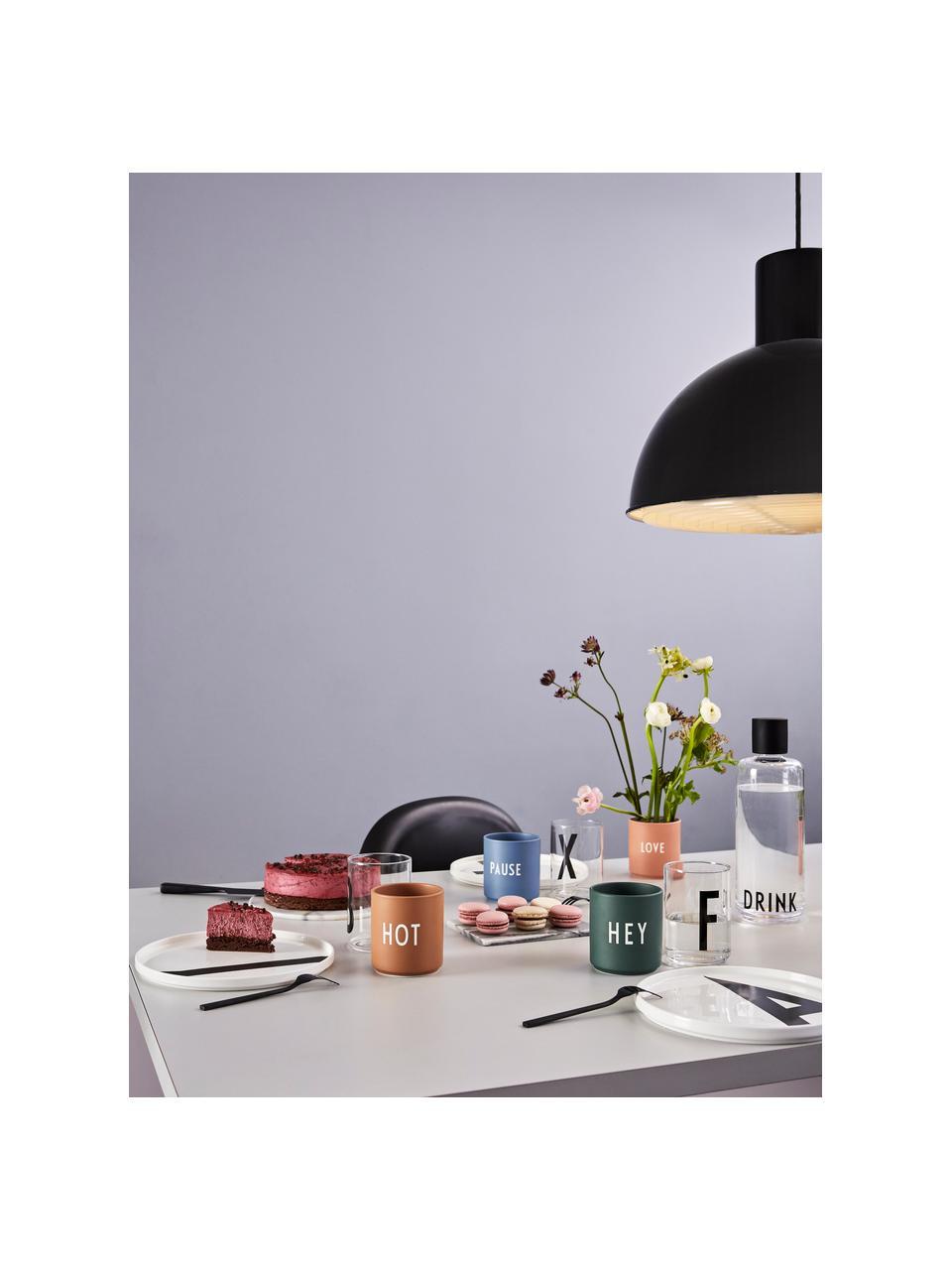Mug design en porcelaine vert Favourite HEY, Vert foncé