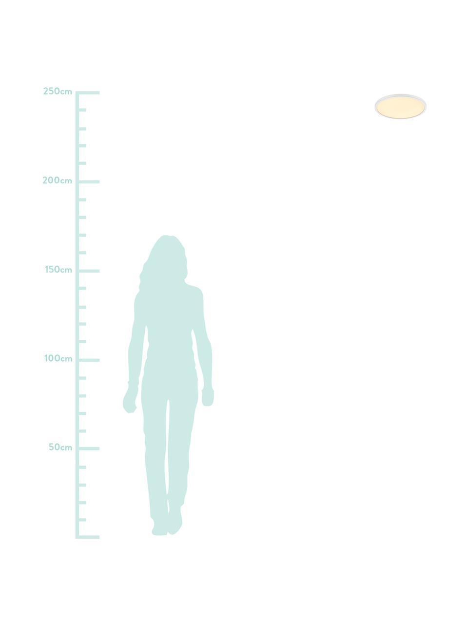 Plafoniera a LED dimmerabile Oja, Paralume: materiale sintetico, Disco diffusore: materiale sintetico, Bianco, Ø 29 x Alt. 2 cm