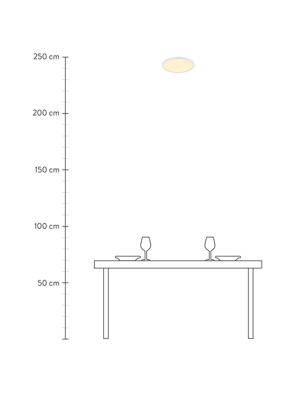 Kleines Dimmbares LED-Panel Oja, Lampenschirm: Kunststoff, Diffusorscheibe: Kunststoff, Weiß, Ø 29 x H 2 cm