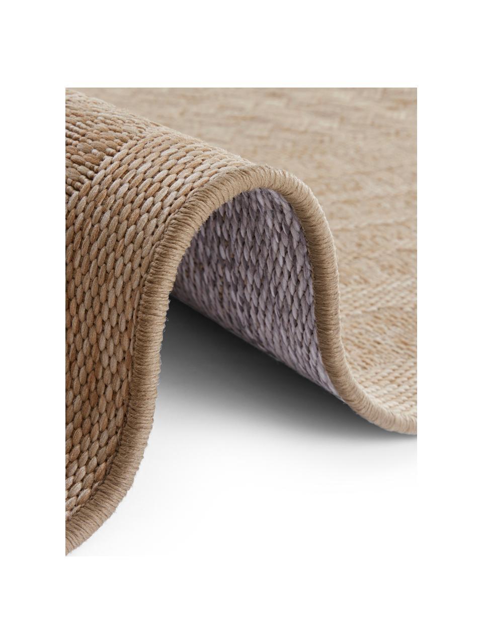 Tapis intérieur-extérieur aspect jute Limonero, Beige, brun