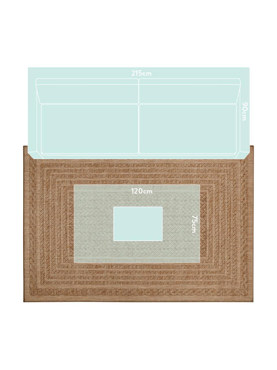 Tappeto da interno-esterno effetto juta Limonero, 100% polipropilene, Beige, marrone, Larg.160 x Lung. 230 cm (taglia M)