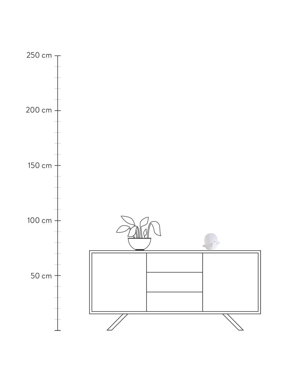 Lampada a LED fantasmino con timer Ghost, Materiale sintetico, Bianco, nero, Larg. 16 x Alt. 12 cm