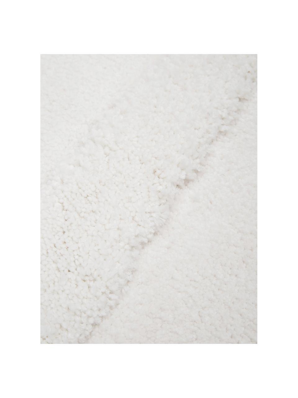Flauschiger Hochflorteppich Rubbie mit Regenbogenmuster in Hoch-Tief-Struktur, Flor: Mikrofaser (100% Polyeste, Beige, B 200 x L 300 cm (Größe L)