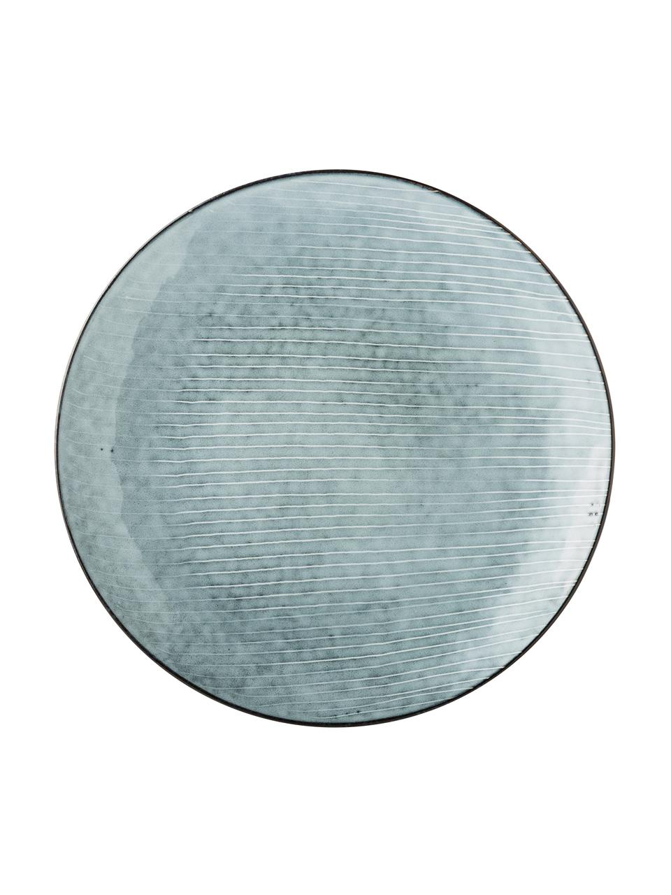 Handgemaakte onderborden Nordic Sea, 4 stuks, Keramiek, Grijs- en blauwtinten, Ø 31 cm