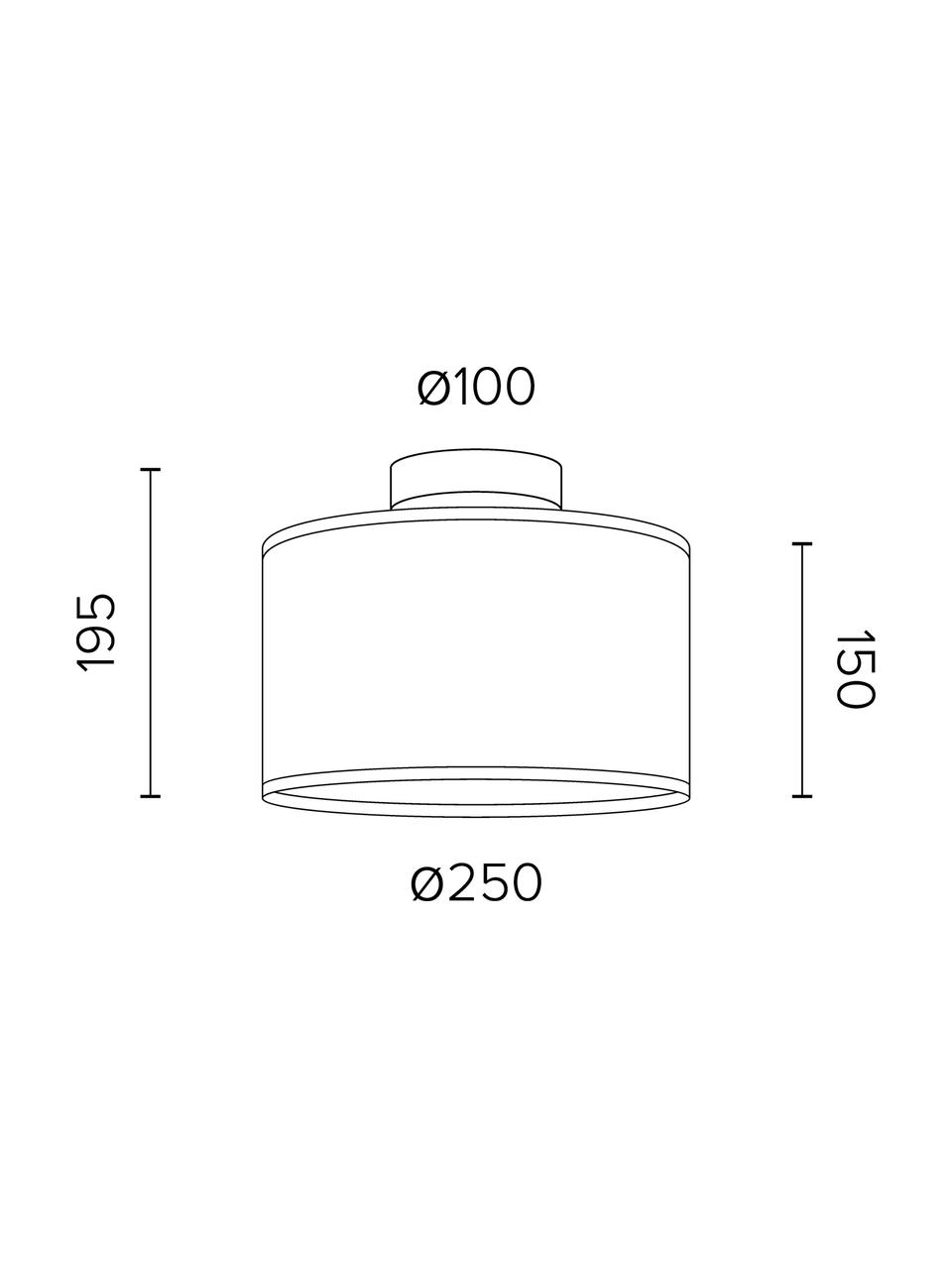 Lampada in similpelle Trece, Paralume: similpelle, Baldacchino: metallo verniciato a polv, Nero, Ø 25 x Alt. 20 cm