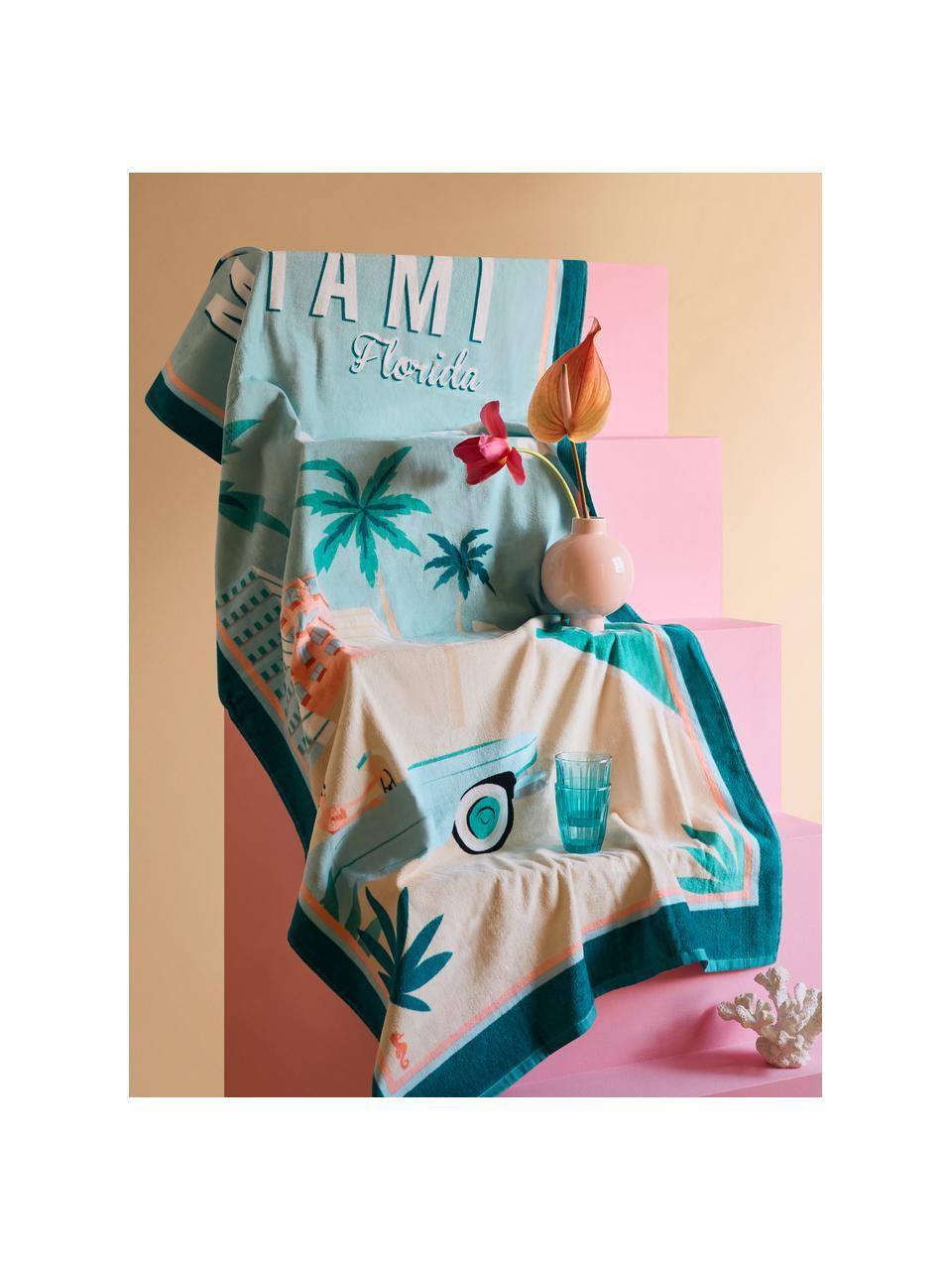 Ręcznik plażowy Miami, Wielobarwny, S 90 x D 170 cm