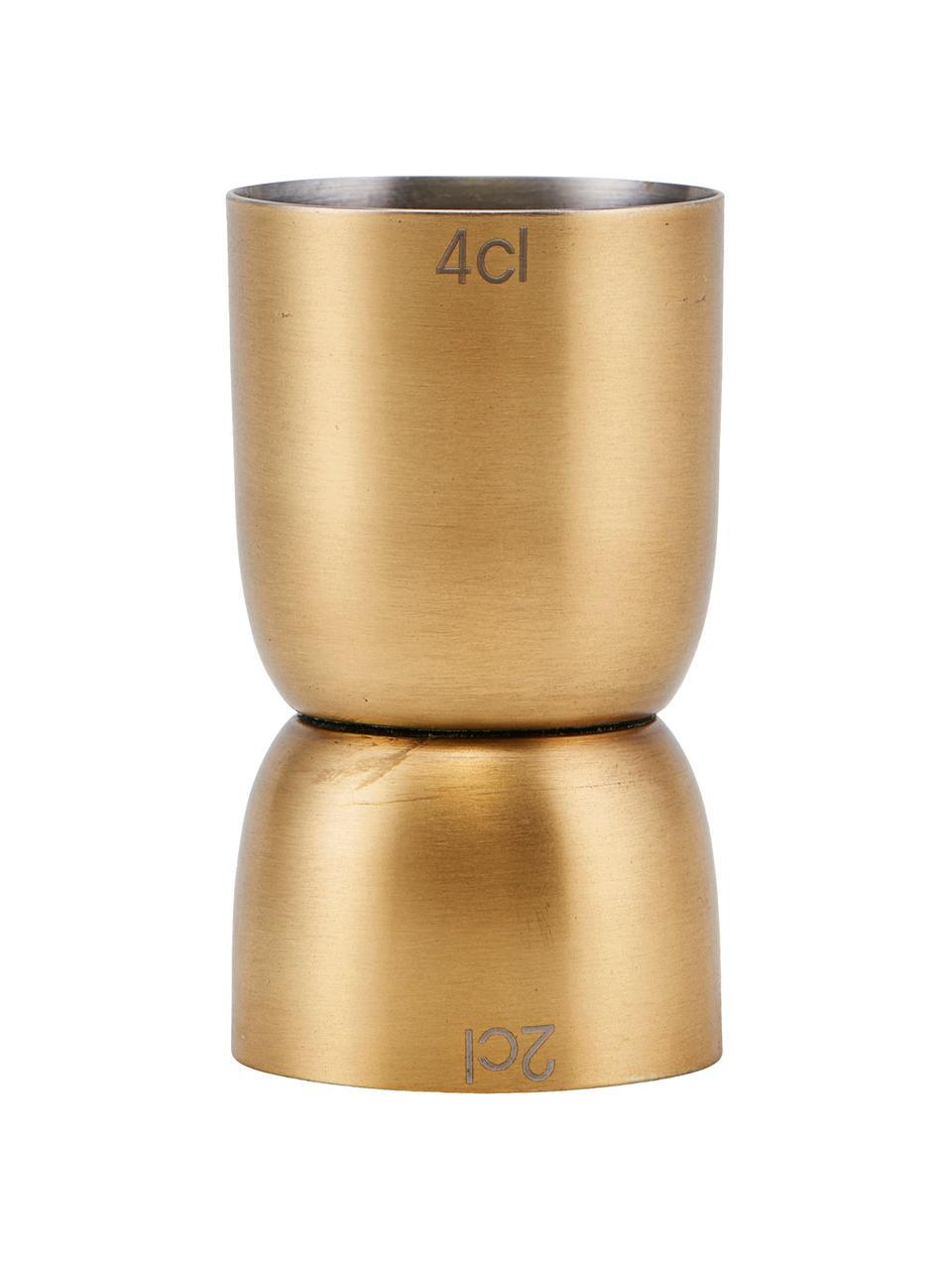 Messbecher Alir in Gold, Edelstahl, beschichtet, Messingfarben, Ø 4 x H 7 cm