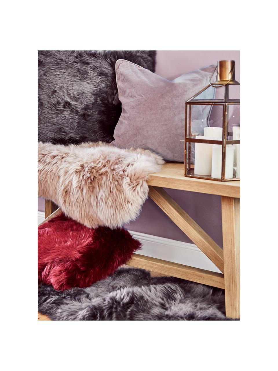 Poszewka na poduszkę z aksamitu Dana, 100% aksamit bawełniany, Brudny różowy, S 50 x D 50 cm