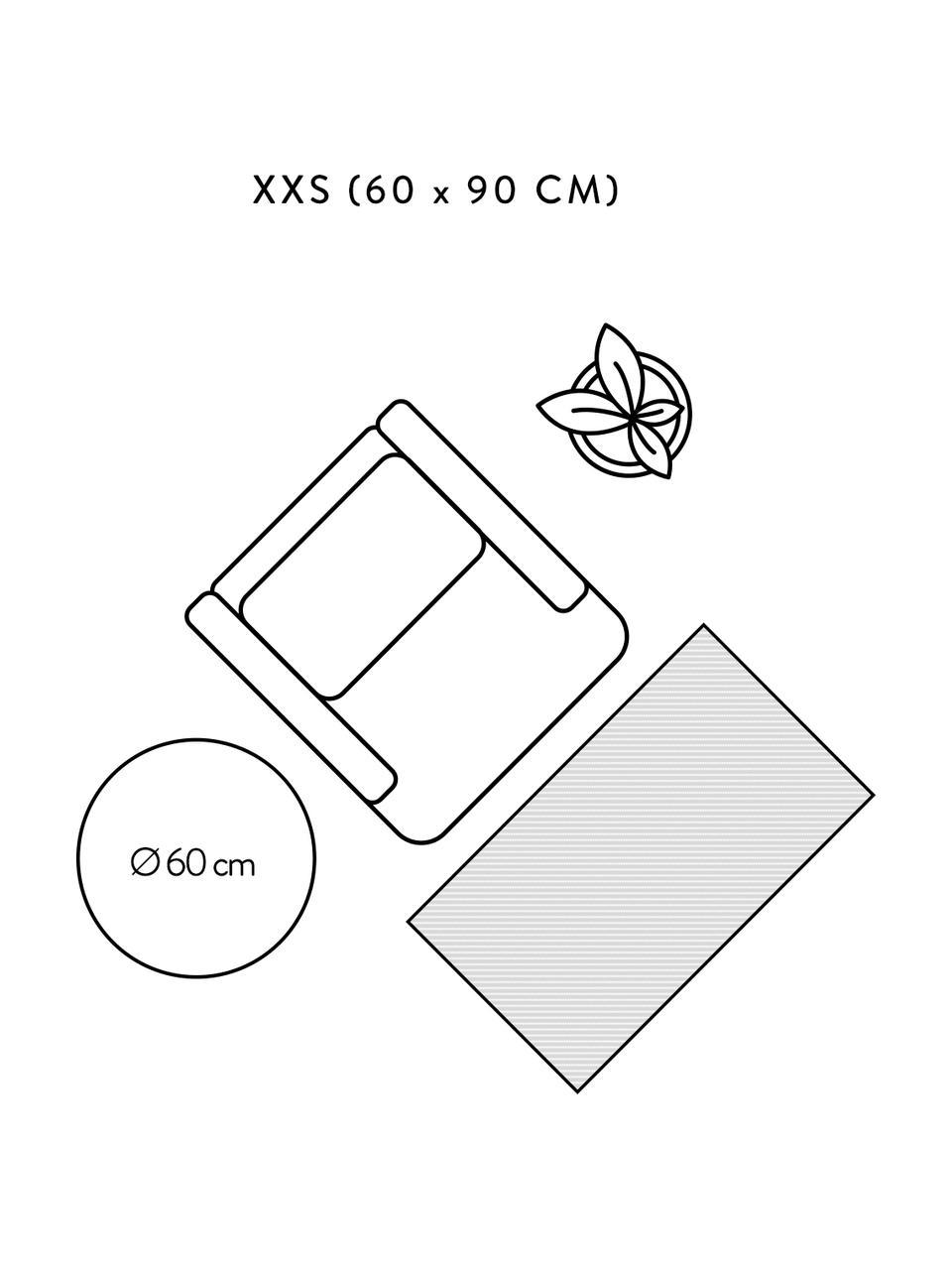 Boho Baumwollteppich Boa mit Hoch-Tief-Muster in Schwarz/Weiß, 100% Baumwolle, Schwarz, Weiß, B 150 x L 200 cm (Größe S)