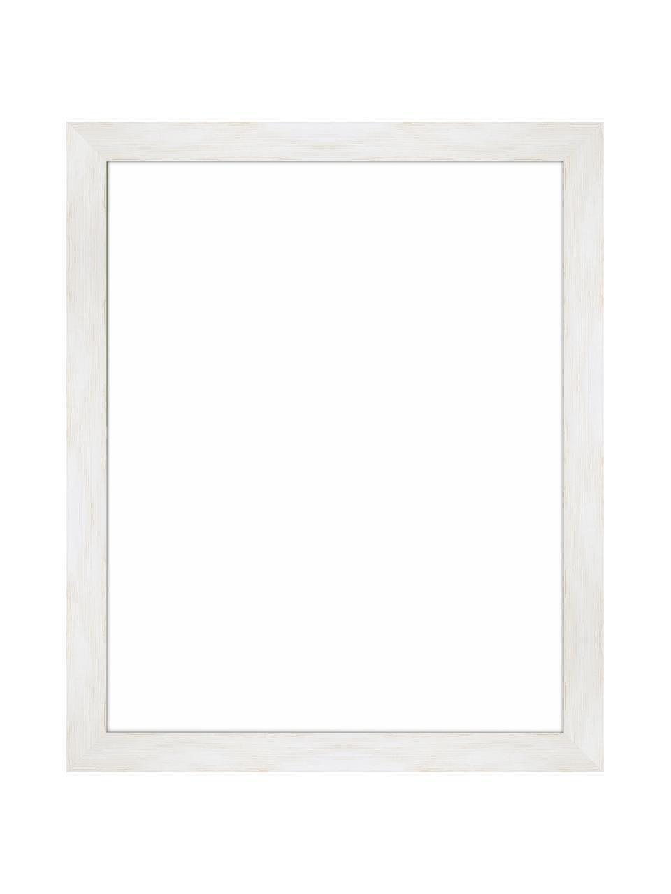 Bilderrahmen Magic, Rahmen: Monterey-Kiefernholz, lac, Front: Glas, Rückseite: Mitteldichte Holzfaserpla, Weiß, 24 x 30 cm