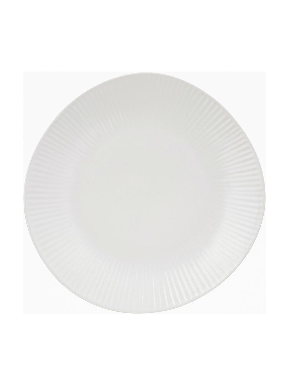 Ręcznie wykonany talerz deserowy Sandvig, 4 szt., Porcelana farbowana, Złamana biel, Ø 22 cm