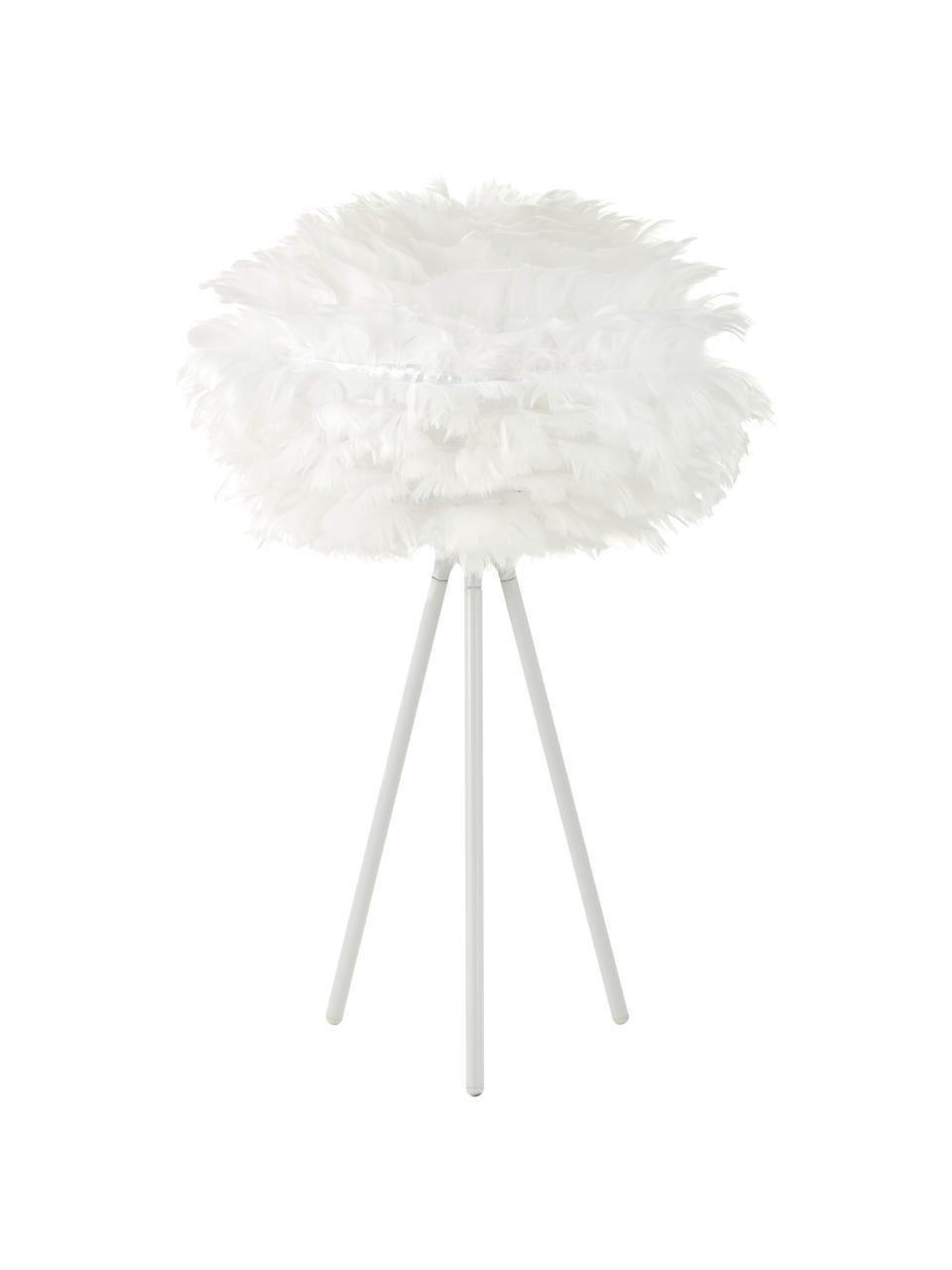 Lampa stołowa z piór Eos, Biały, Ø 35 x W 56 cm