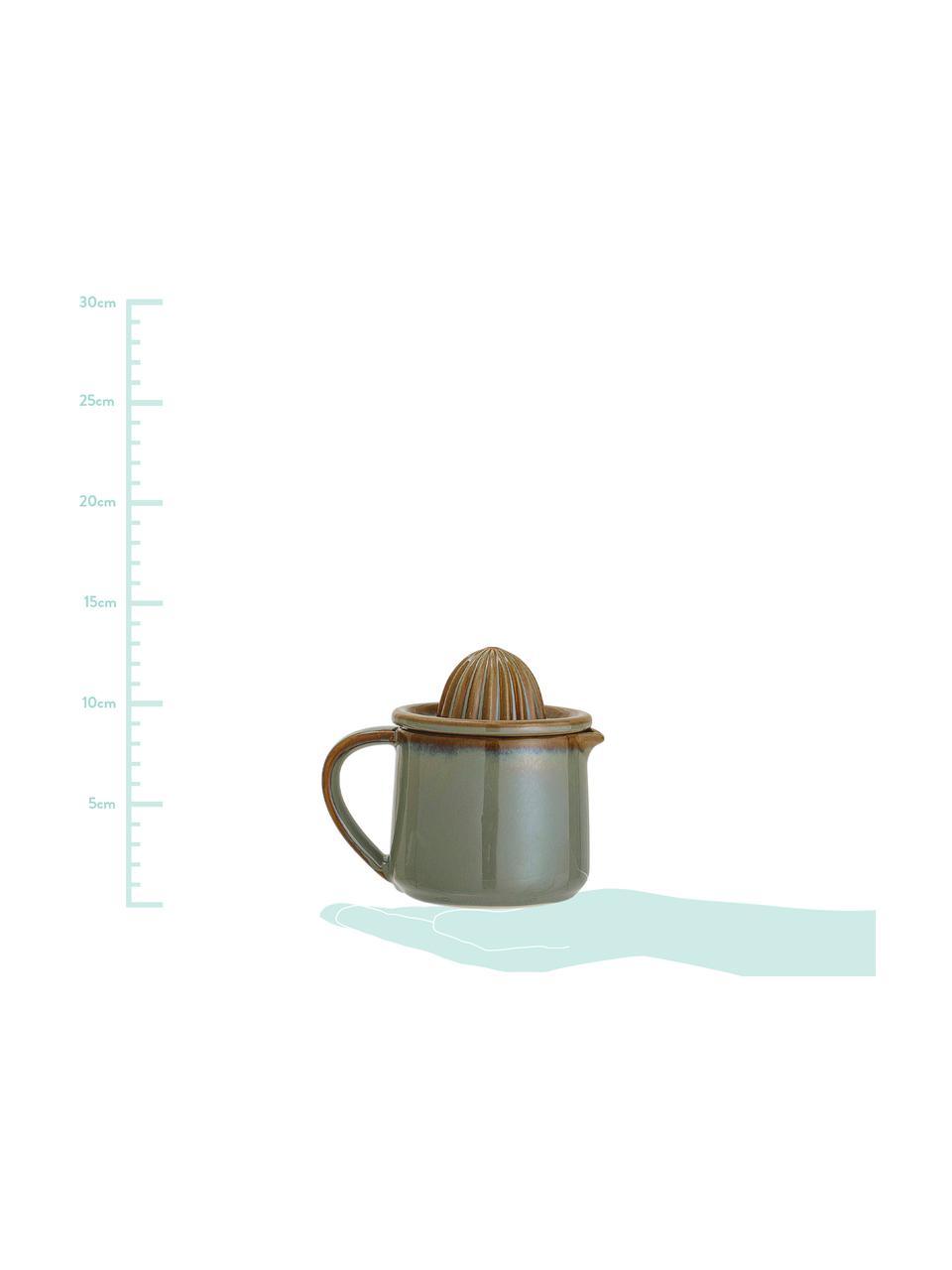 Zitruspresse Pixie mit integriertem Kännchen, Steingut, Grün, Ø 11 x H 13 cm