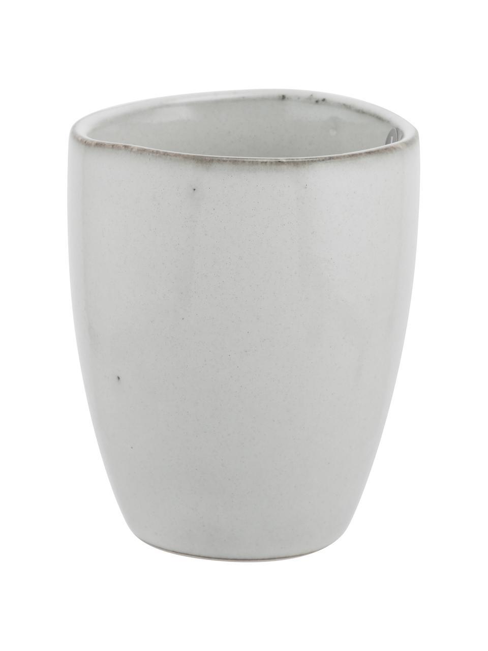 Handgemachte Becher Nordic Sand aus Steingut, 6 Stück, Steingut, Sand, Ø 8 x H 10 cm