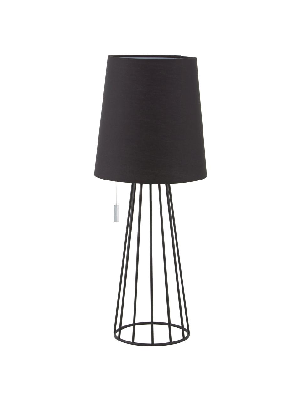 Lampa stołowa Mailand, Czarny, Ø 23 x W 59 cm