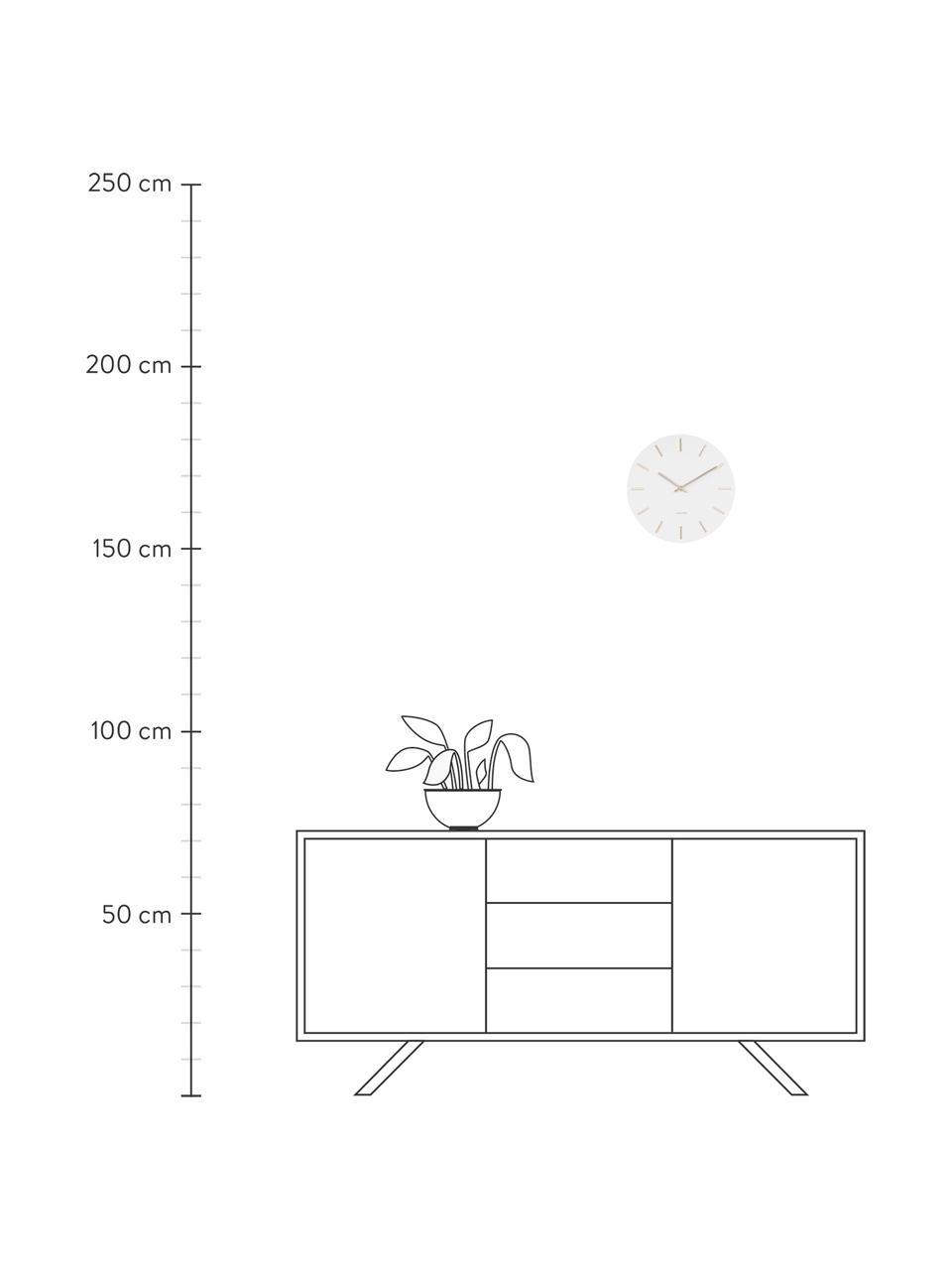 Wandklok Charm, Gelakt staal, Wit, Ø 30 x D 4 cm