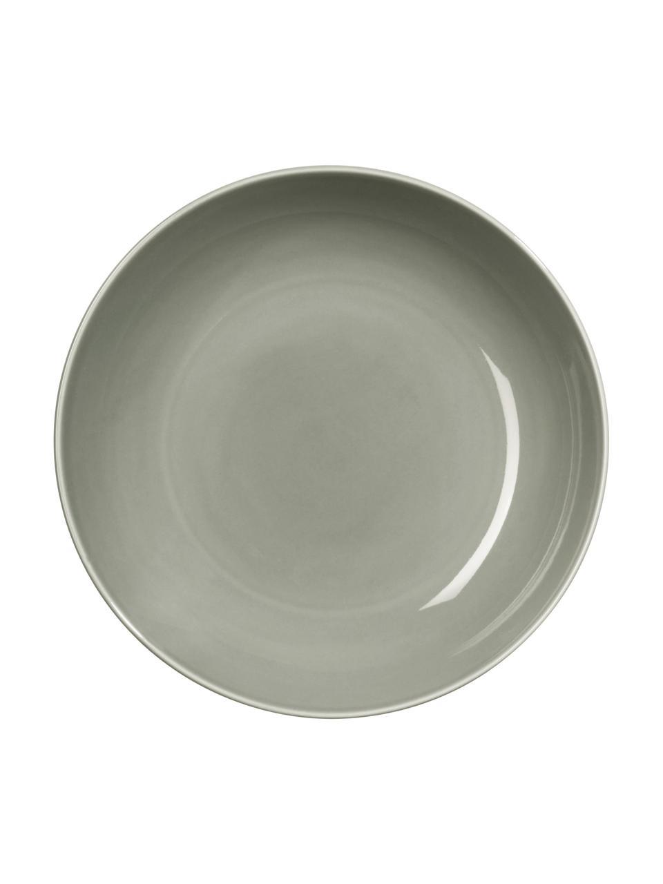 Talerz głęboki z porcelany Kolibri, 6 szt., Porcelana, Szary, Ø 24 cm