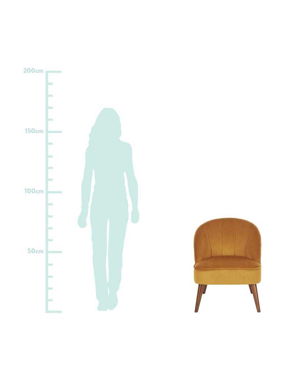 Fotel z aksamitu Aya, Tapicerka: aksamit (poliester) 30 00, Nogi: drewno brzozowe, lakierow, Kremowobiały teddy, S 73 x G 64 cm