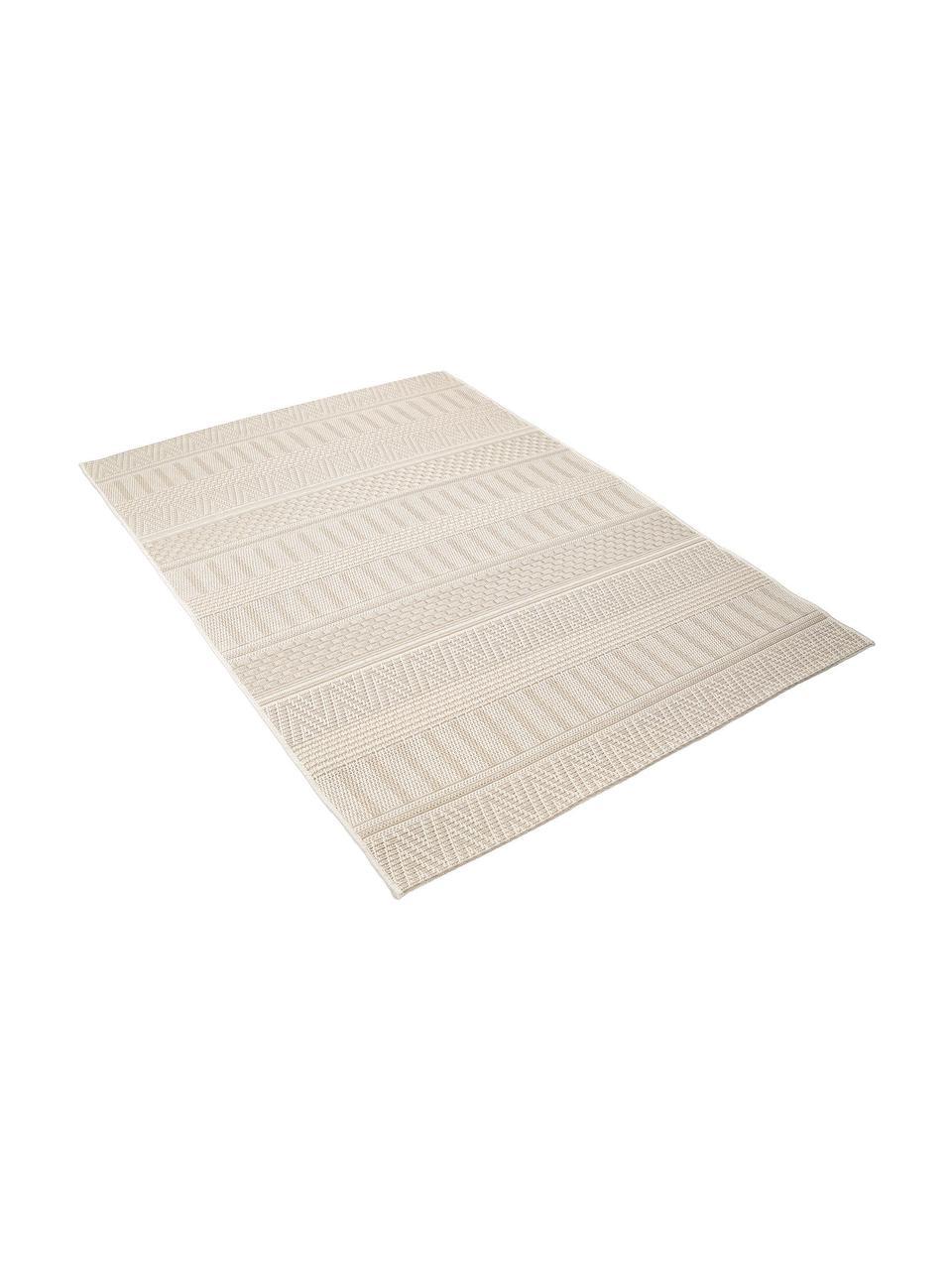 Dywan wewnętrzny/zewnętrzny Naoto, 100% polipropylen, Kremowy, jasny beżowy, S 200 x D 290 cm (Rozmiar L)