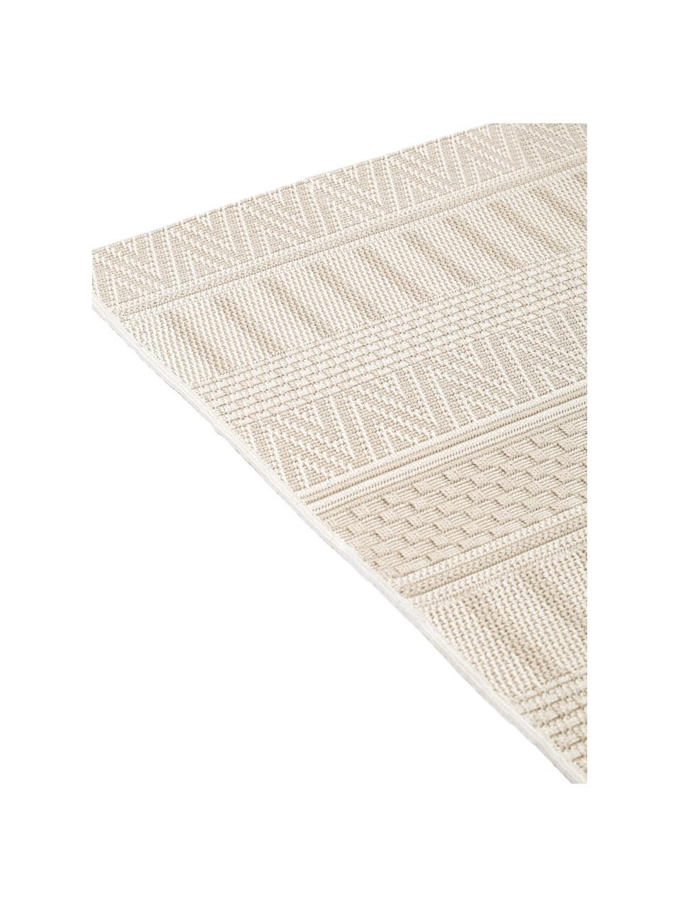 In- & outdoor vloerkleed Naoto met een subtiel  ethno patroon, 100% polypropyleen, Crèmekleurig, lichtbeige, B 200 x L 290 cm (maat L)